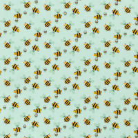 Bienen Baumwolle mint