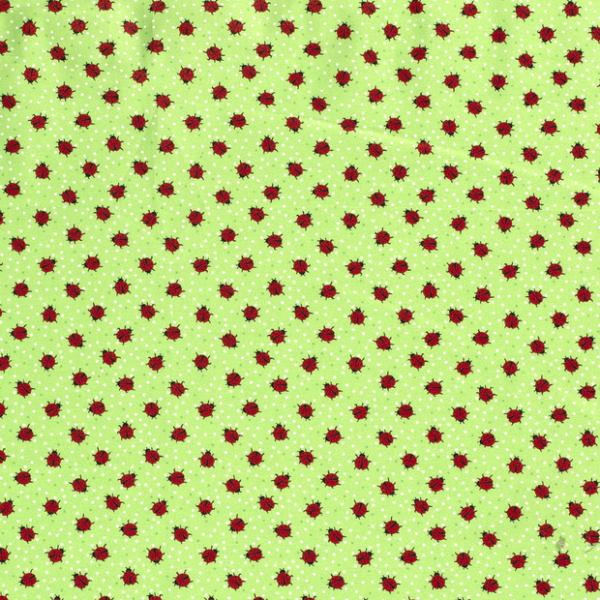 Marienkäfer Baumwolle hellgrün