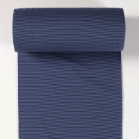 Ringelbündchen jeansblau/dunkelblau