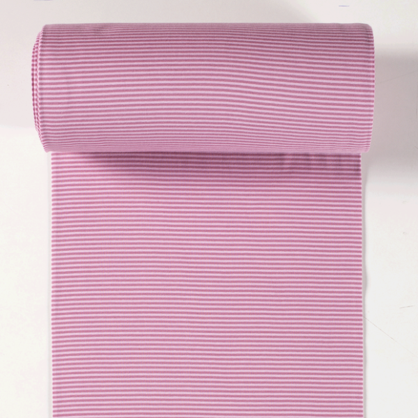 Ringelbündchen rosa/altrosa