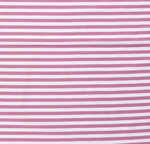 Streifen breit Jersey altrosa