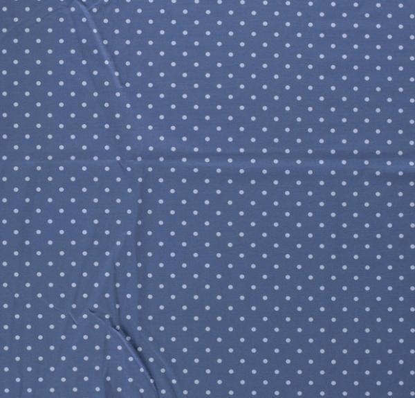 Tupfen Jersey hellblau/jeansblau