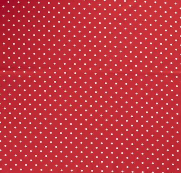 Tupfen Jersey weiß/rot