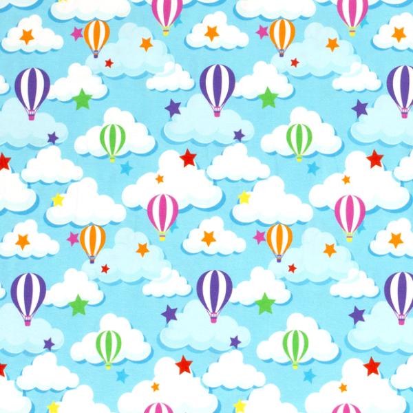 Heißluftballons Jersey himmelblau