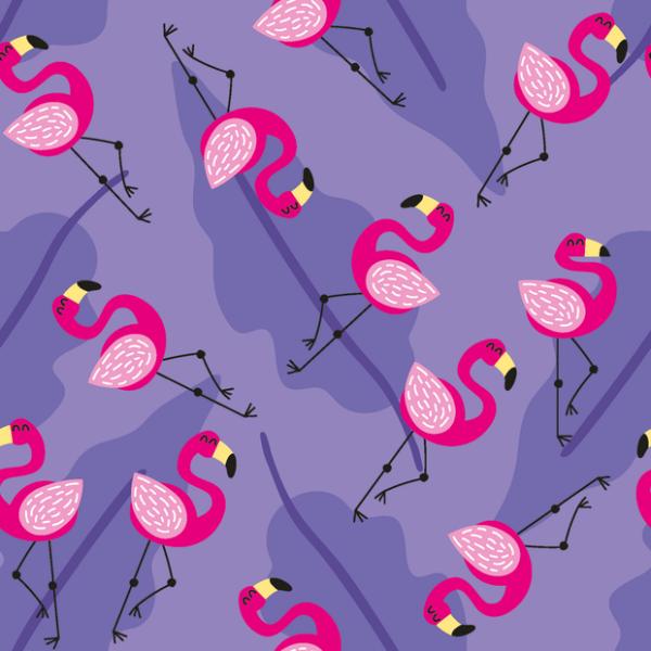 Flamingo Jersey lila
