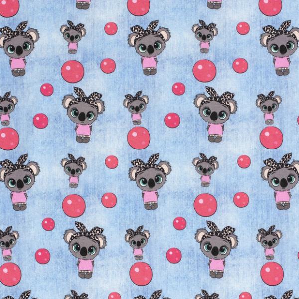 Koalamädchen Jersey jeansblau hell