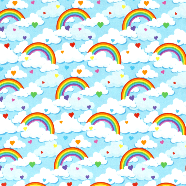 Regenbogen Jersey himmelblau