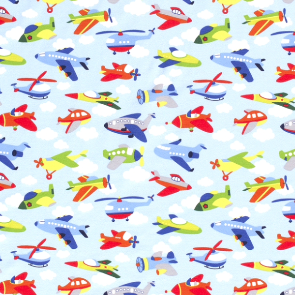 Flugzeuge Jersey hellblau
