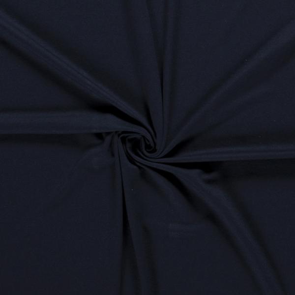 Viskosejersey uni dunkelblau