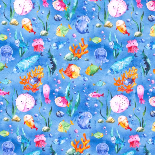 Fisch Party Sweat blau