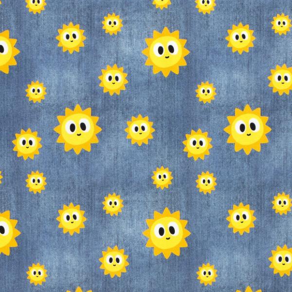Sonne Sweat jeansblau