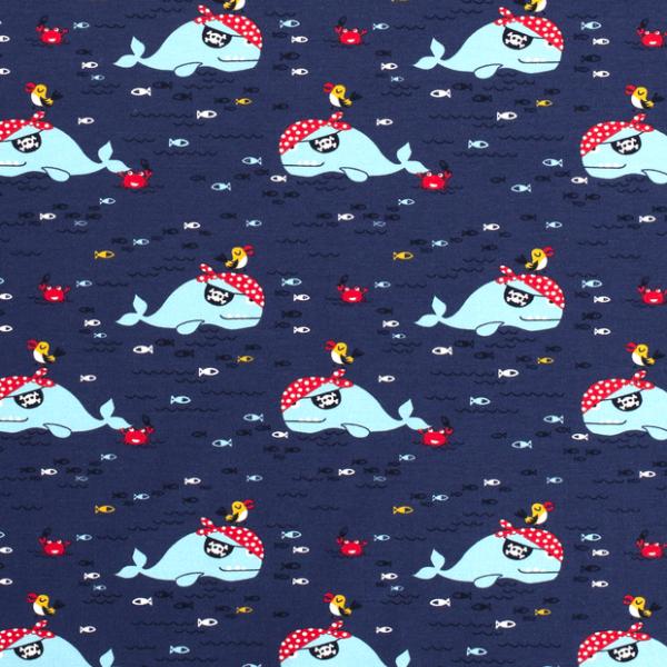 Piratenwale Sweat dunkelblau