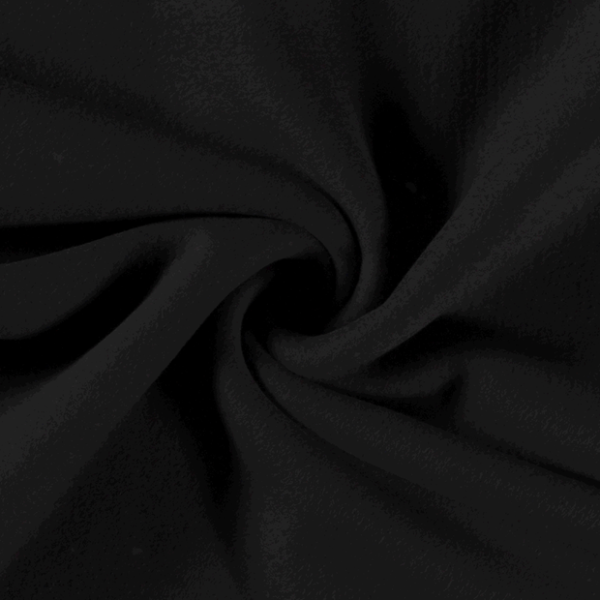 Baumwollfleece schwarz