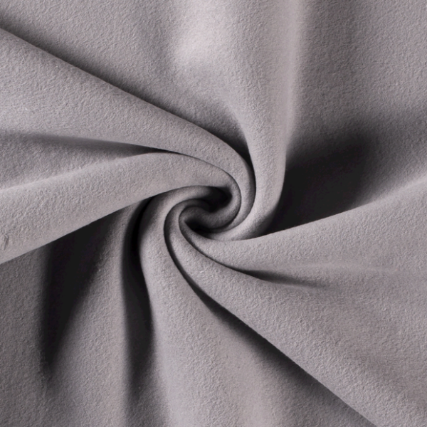 Baumwollfleece grau