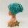 Beanie Affen und Faultiere mit Blumen türkis