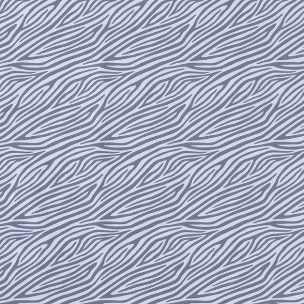Zebramuster Jersey rauchblau/hellblau