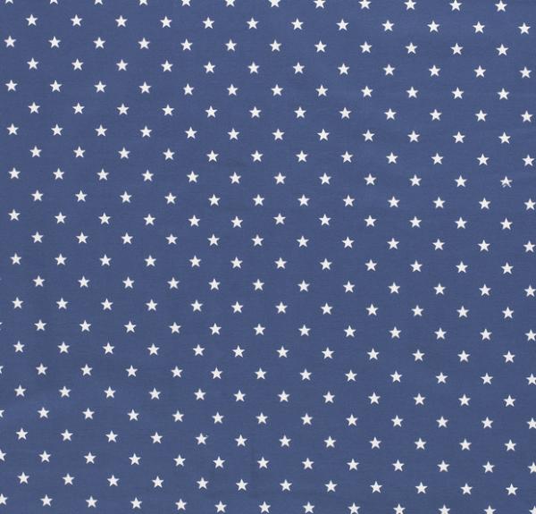 Sterne Jersey jeansblau