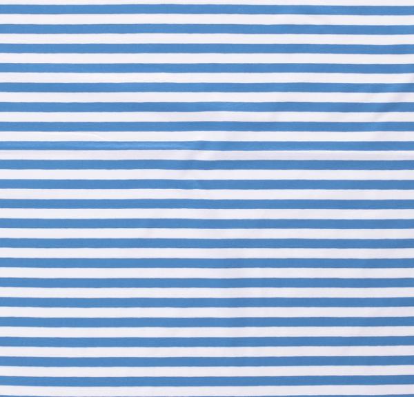 Streifen breit Jersey mittelblau