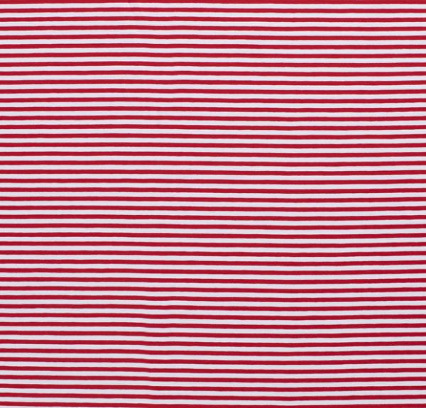 Streifen schmal Jersey rot