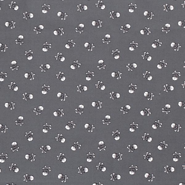 Totenköpfe Baumwolle grau