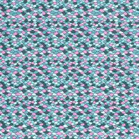 Schuppen Baumwolle petrol/rosa