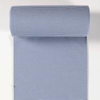 Ringelbündchen hellblau/jeansblau