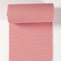 Ringelbündchen rot/weiß