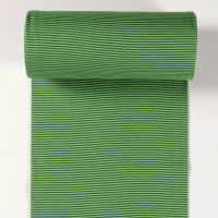 Ringelbündchen apfelgrün/dunkelgrün