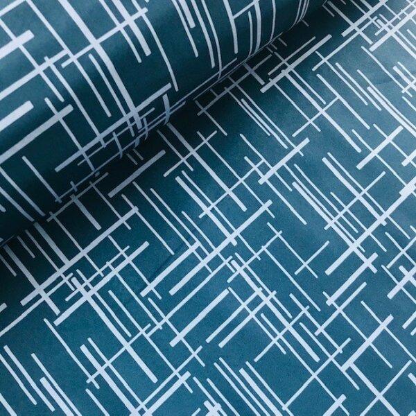 Linien Softshell jeansblau