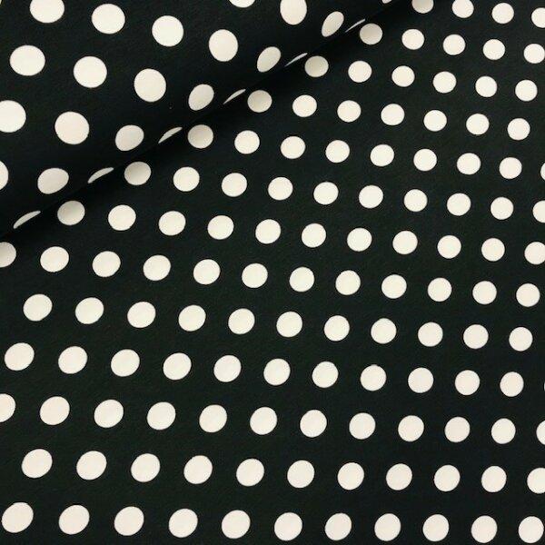 Tupfen Jersey schwarz/weiß
