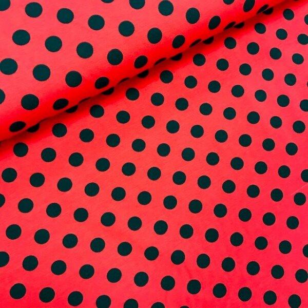 Tupfen Jersey rot/schwarz