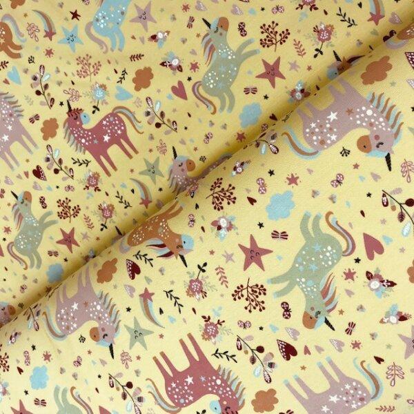 Einhörner Jersey dusty yellow