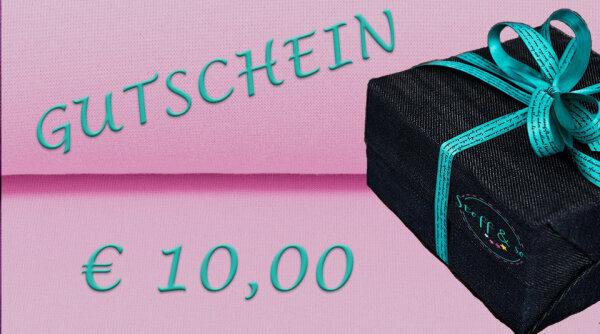 Gutschein [€ 10,00]