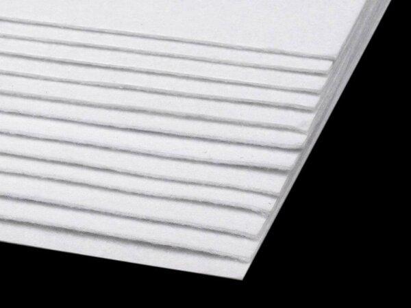 Bastelfilz 20x30cm weiß