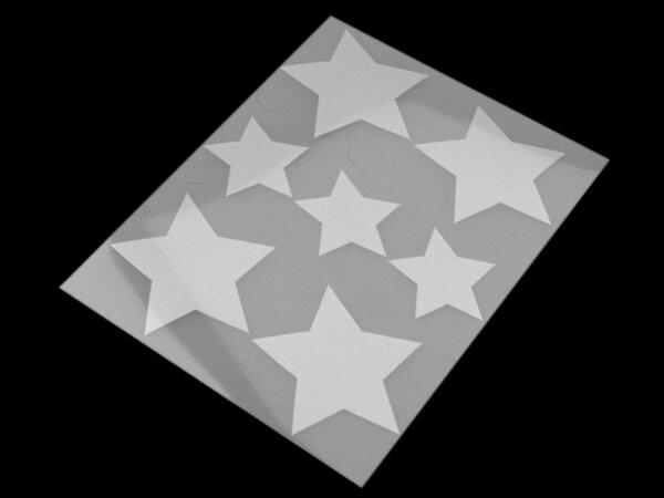 Reflektierende Aufbügler Sterne
