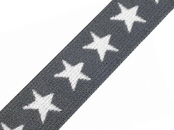 Sternengummi ca. 20mm dunkelgrau