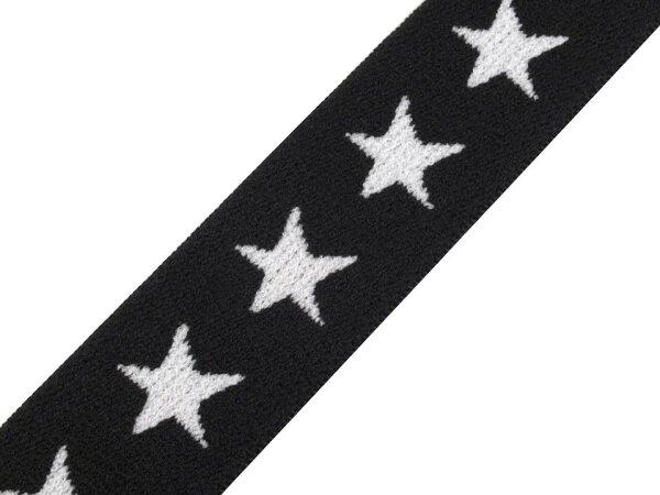 Sternengummi ca. 20mm schwarz