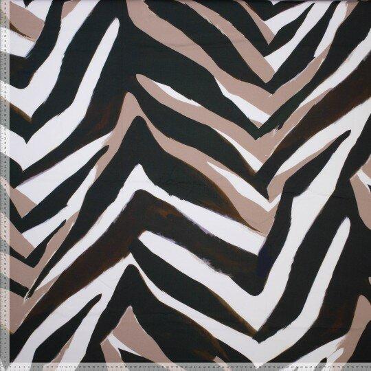 Zebramuster Baumwolle/Elasthan braun