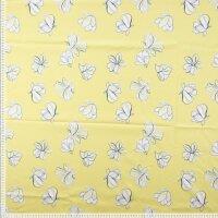 Blumen Baumwolle/Elasthan gelb