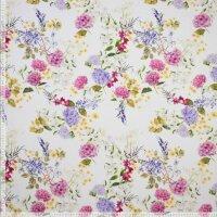 Sommerblumen Baumwolle/Elasthan natur