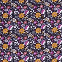 Blumen Baumwolle dunkelblau