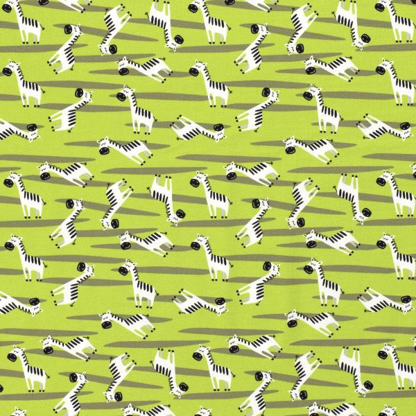 Zebra Jersey grün