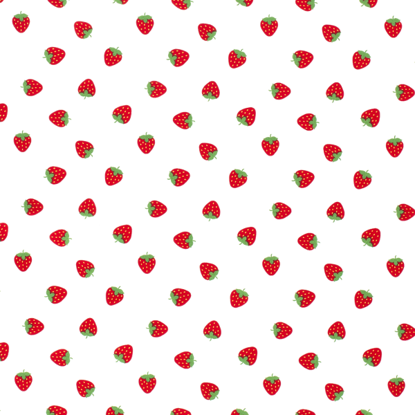 Erdbeeren Baumwolle weiß