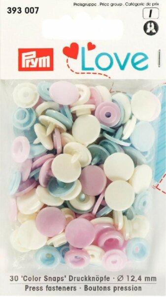 Prym Love Color Snaps Ø 12,4mm pastell
