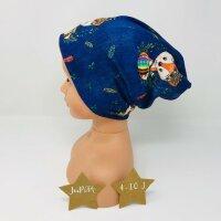 Beanie Indianerfüchse jeansblau