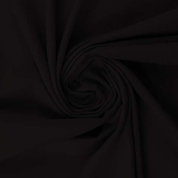 Baumwolljersey 000299 uni, schwarz