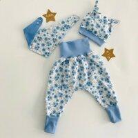 Baby-Set Blumen blau
