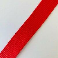 Gurtband 25mm rot