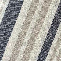 Baumwolle Viskose Leinen Streifen beige/jeansblau