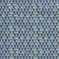 Blüten Baumwolle blau